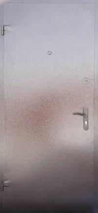 металлические двери толщиной листа не менее 2 мм с порошковой окраской