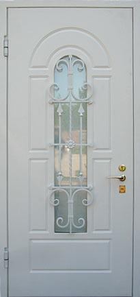 входная дверь в дом белая со стеклом