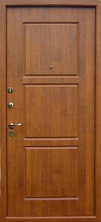 металлическая дверь с отделкой деревом недорого